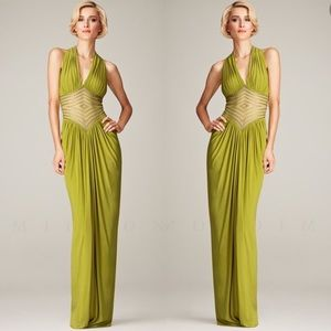 Mignon Fashion diamond accent ruched long gown